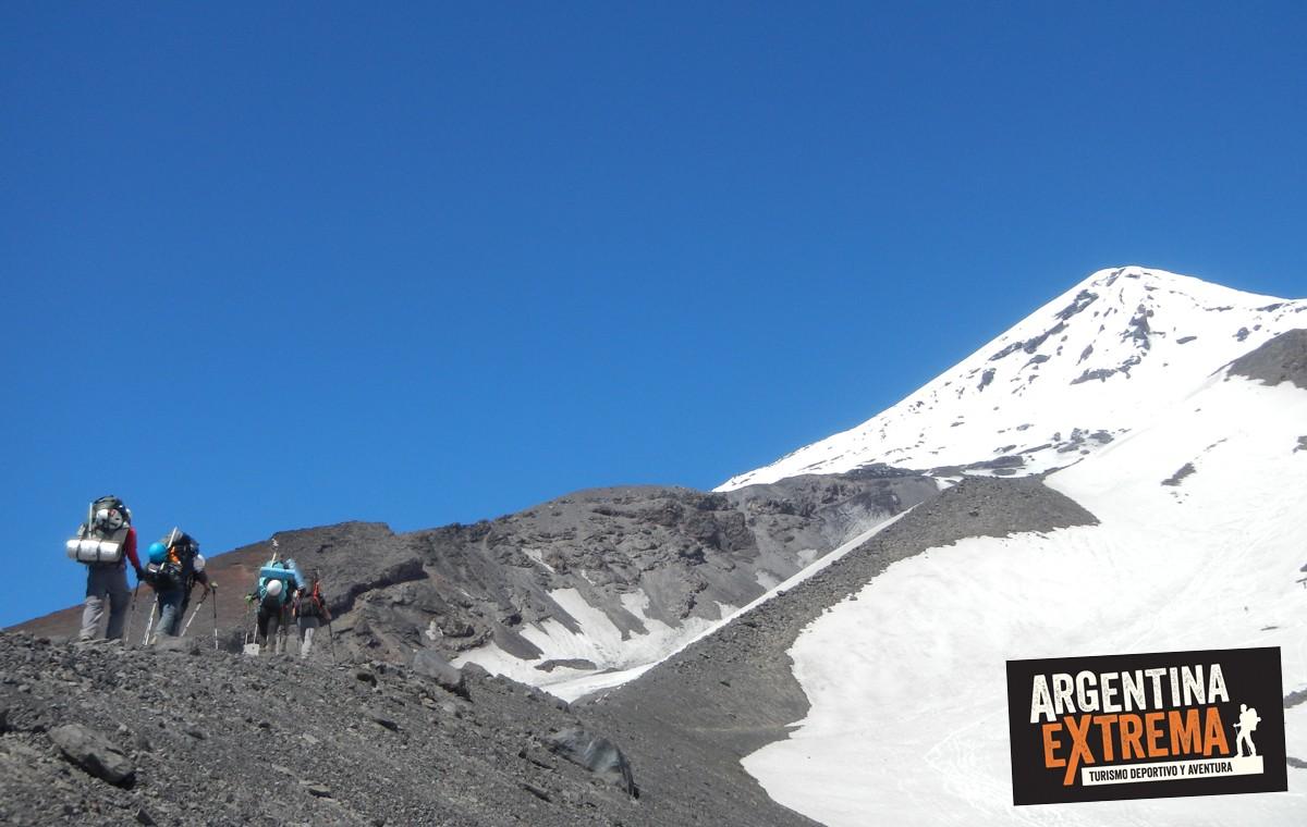 ascenso al volcan Lanin