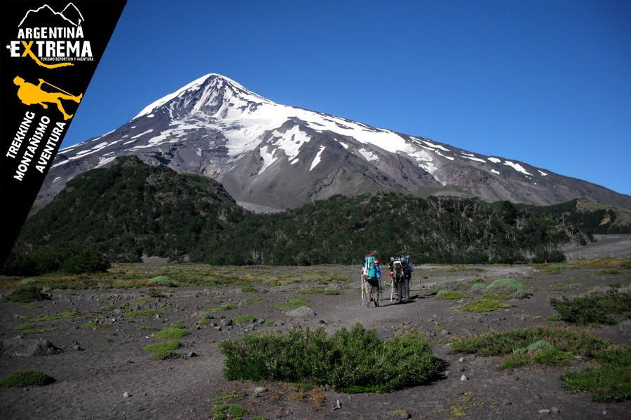 ascenso volvan lanin trekking 02