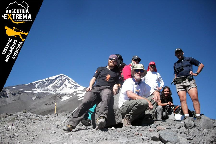 ascenso volvan lanin trekking 04
