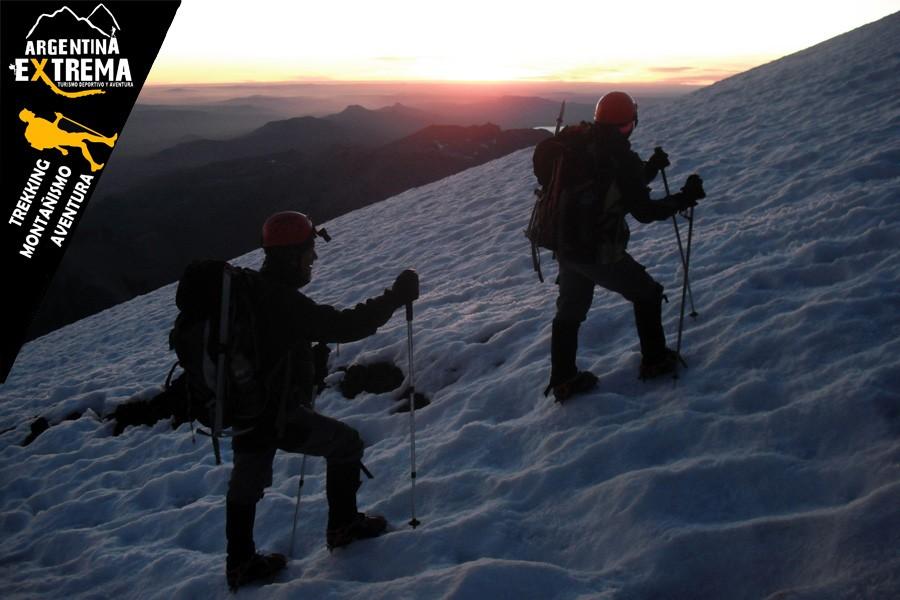 ascenso volvan lanin trekking 11