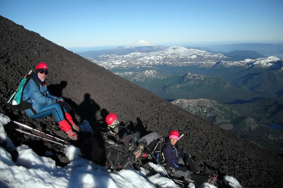 ascenso volvan lanin trekking 14