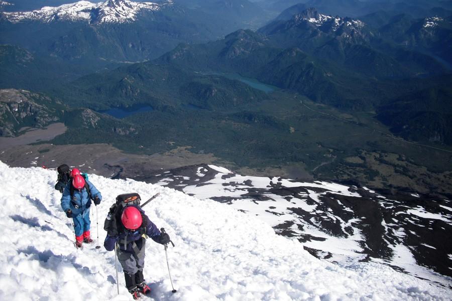 ascenso volvan lanin trekking 18