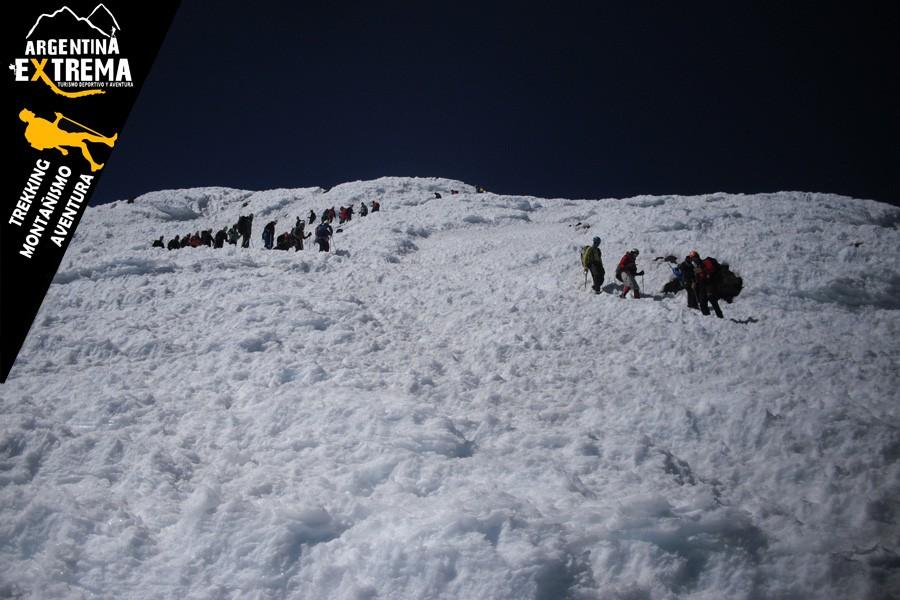 ascenso volvan lanin trekking 19