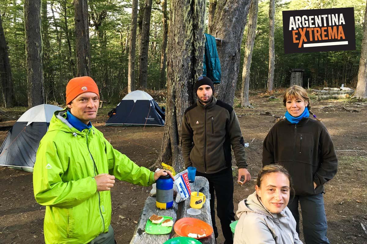 campamento patagonia desayuno argentinaextrema