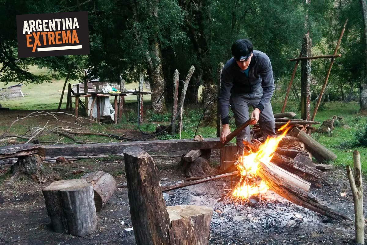 fogon campamento bariloche