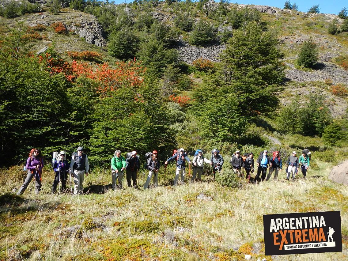 grupo de trekking Patagonia