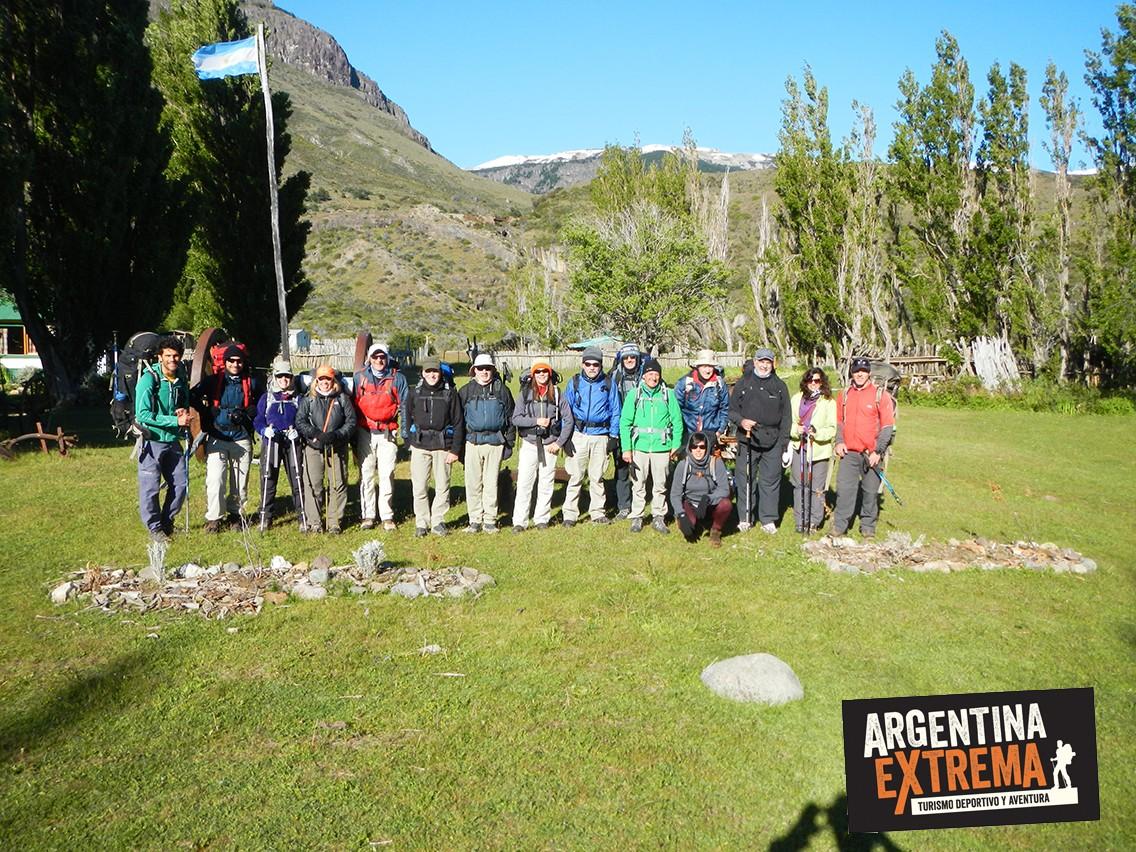 grupo trekking estancia El Condor