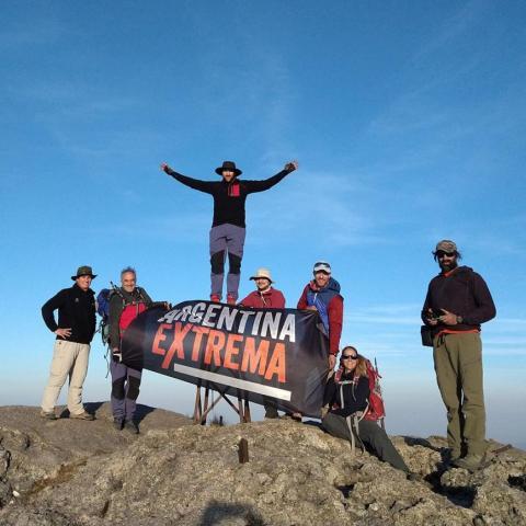 Cumbre Cerro Mogote - 2390 msnm, máxima altura de Los Gigantes