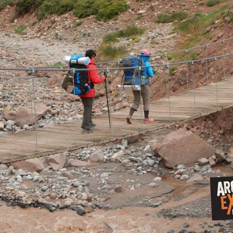 Trekking Aconcagua a Confluencia, Plaza Francia y Plaza de Mulas