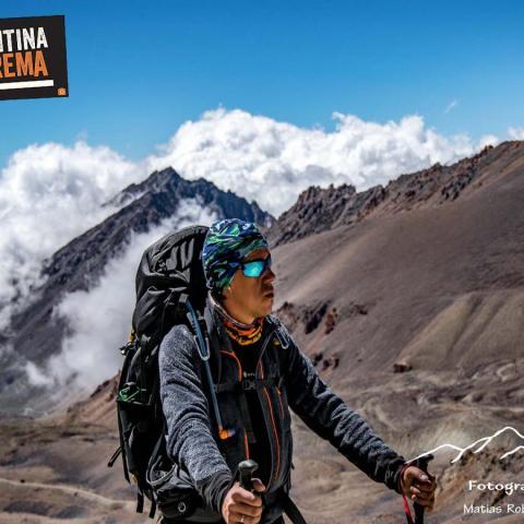 Trekking cruce de los andes, finalizando en Santiago de Chile.