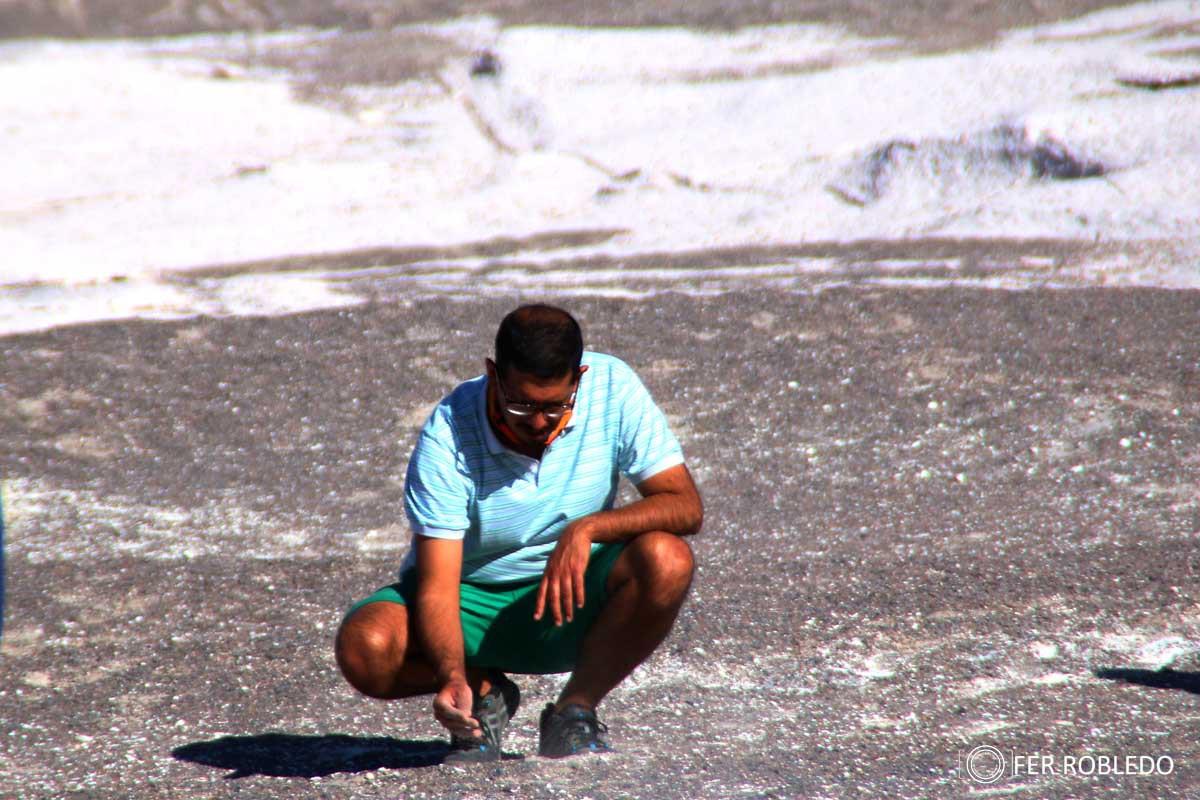 Mariano, en el Campo de Piedra Pomez - Puna Catamarqueña