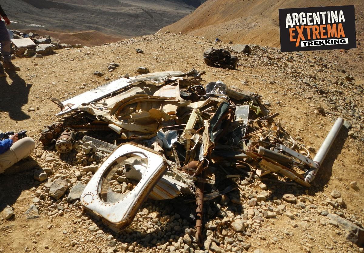 restos del avion de los uruguayos