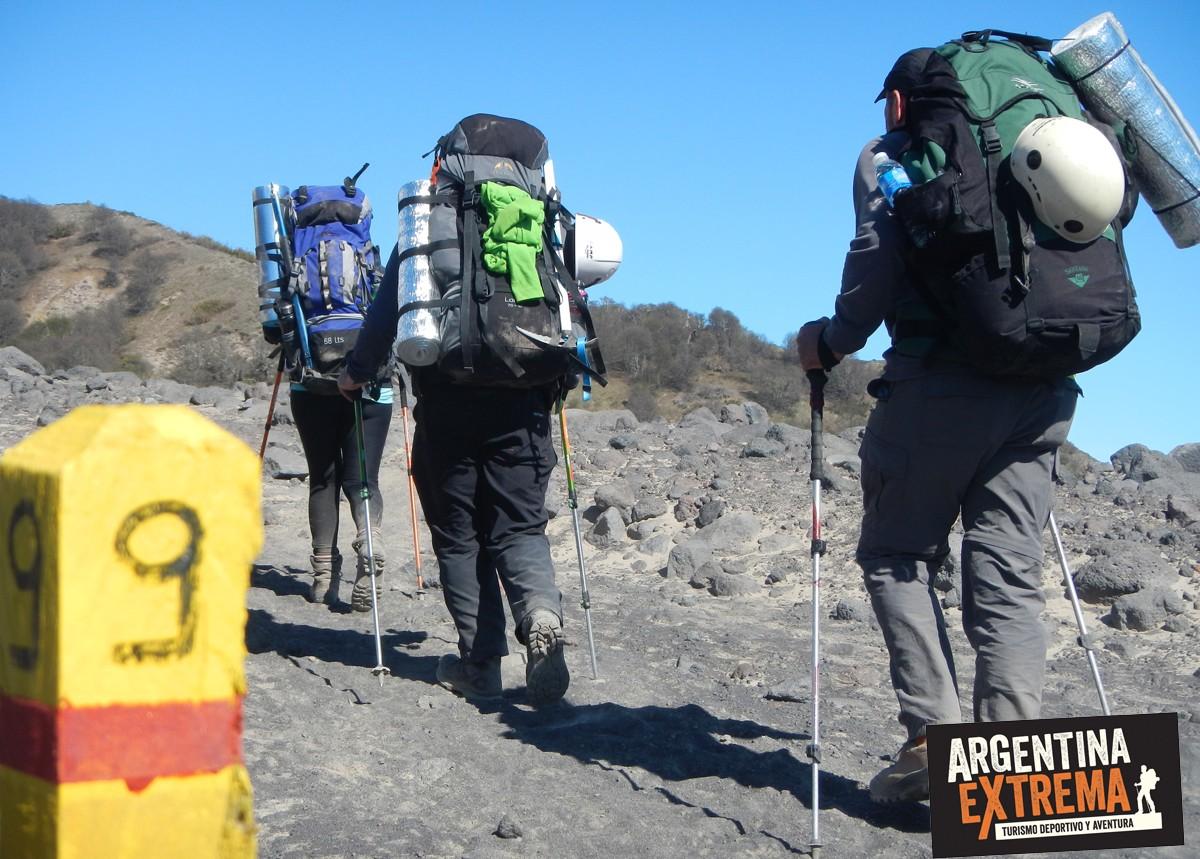 subir al volcan Lanin