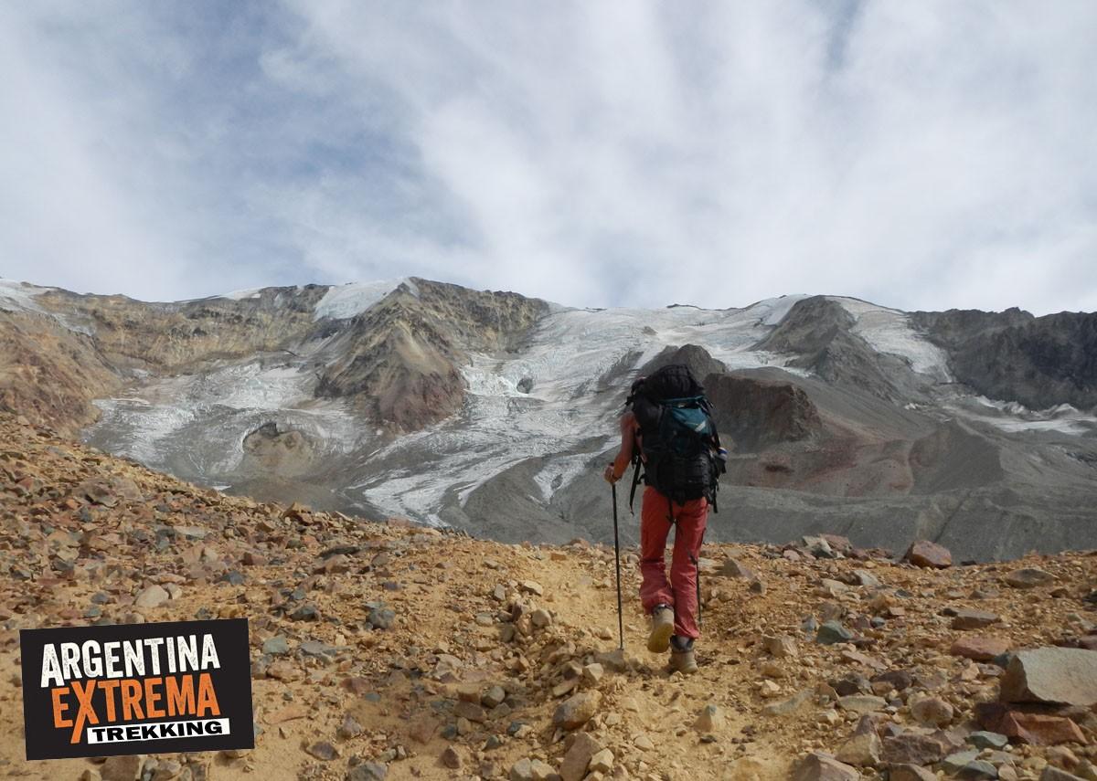 valle y glaciar de las lagrimas