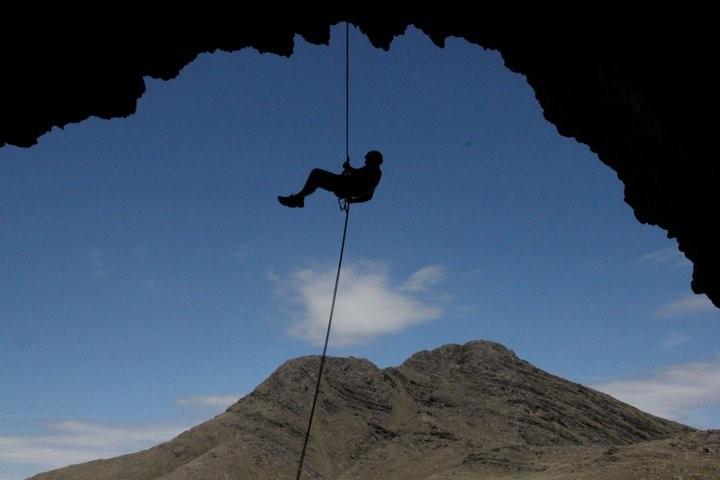Tres Picos desde la Cueva de los Guanacos
