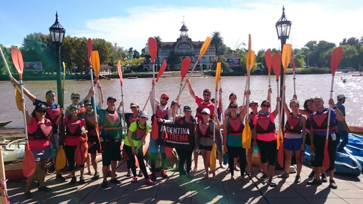 kayaking de travesia conociendo el delta Grupo