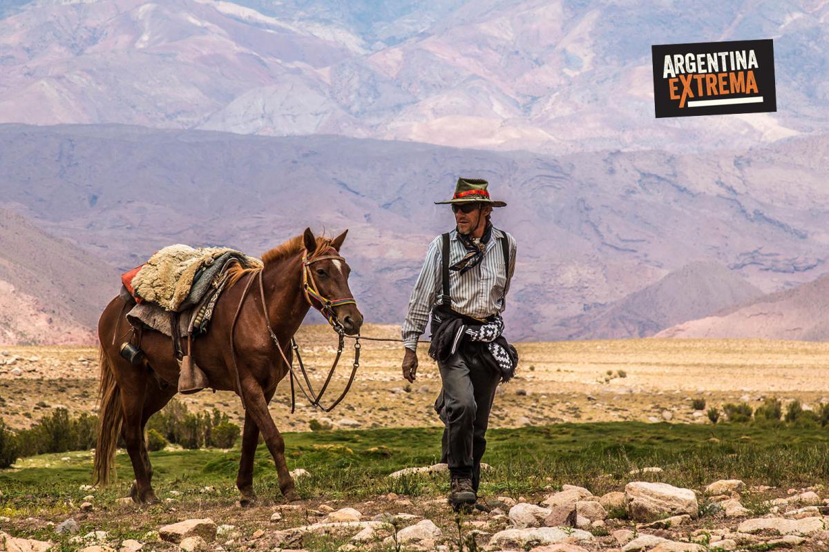 Baqueanos en el Cruce de los Andes Sanmartiniano
