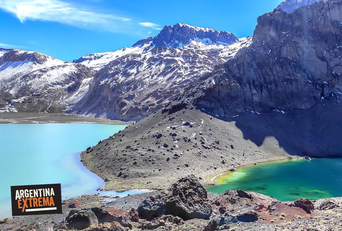 Laguna del Atuel y laguna chica