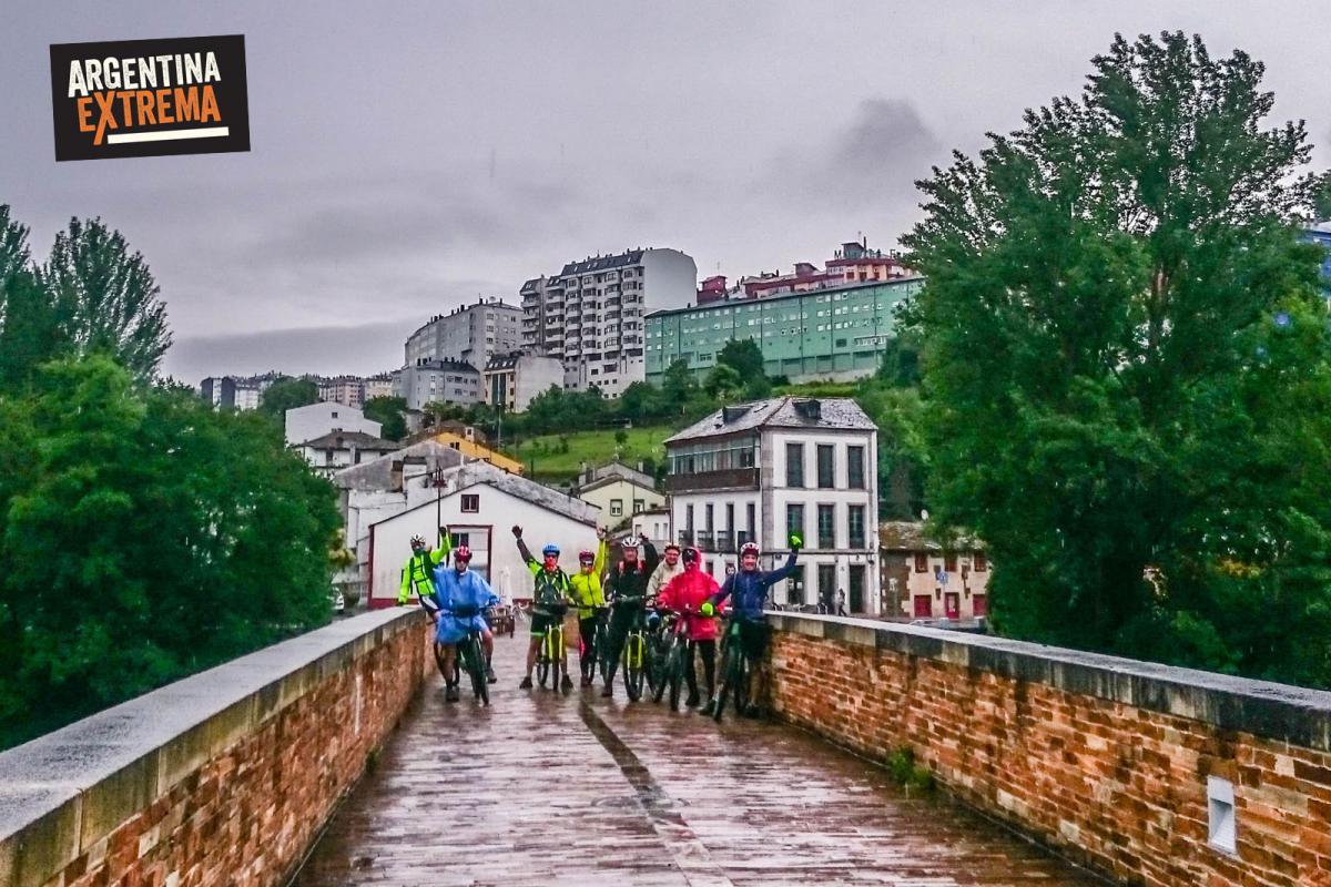 Camino de santiago de compostela en mtb - Saliendo de Lugo