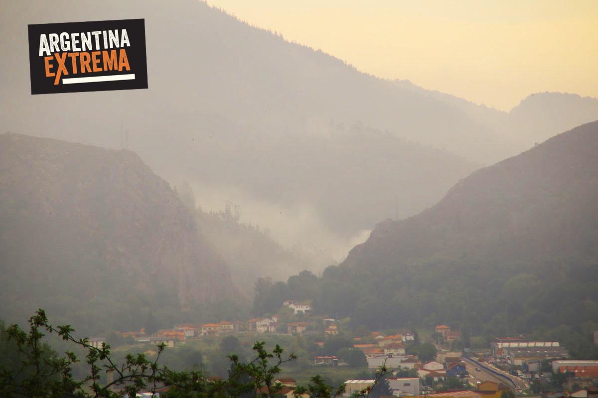 camino de santiago de compostela en mtb - Saliendo de Oviedo