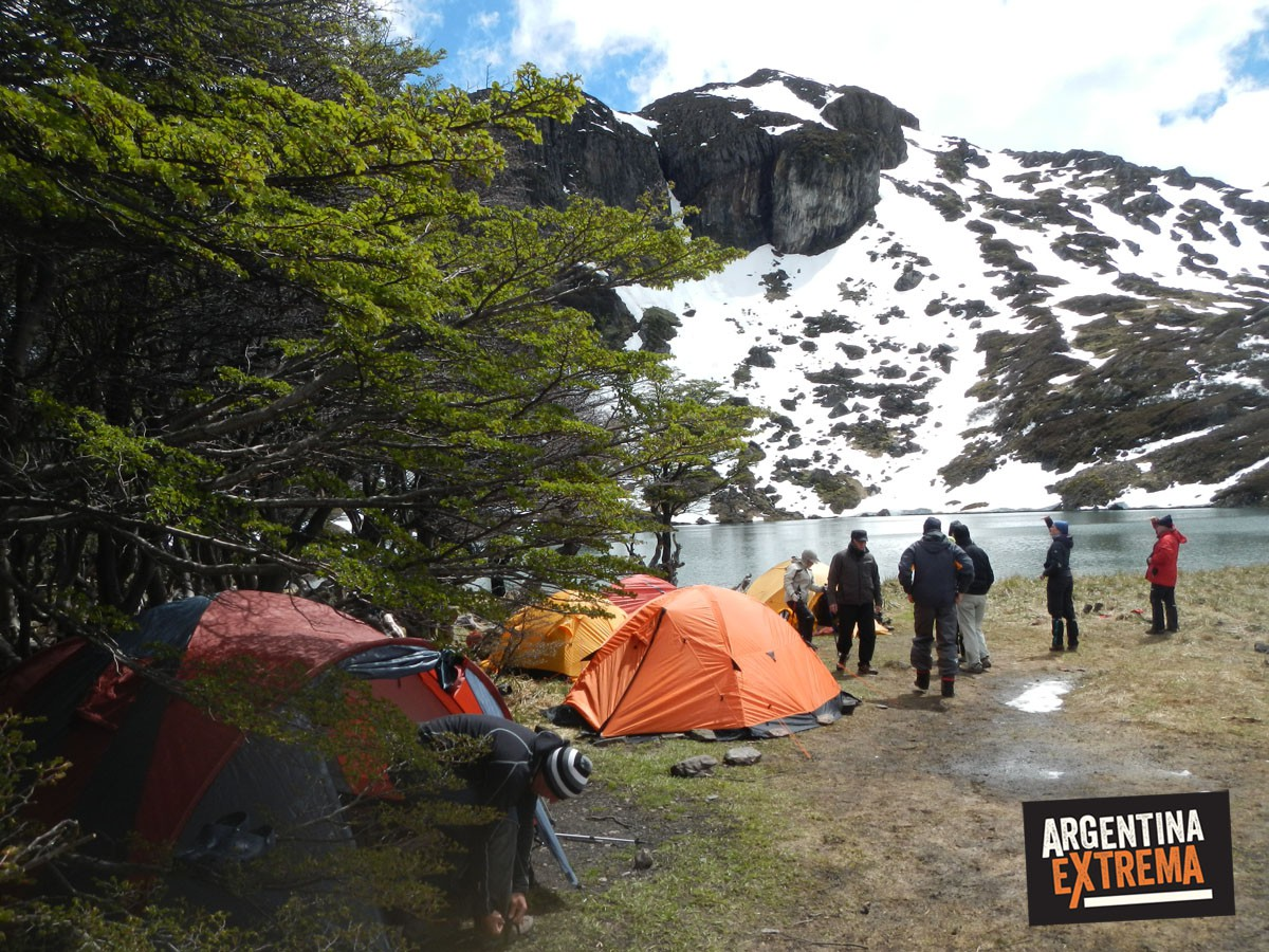 Campamento en la Laguna del Caminante