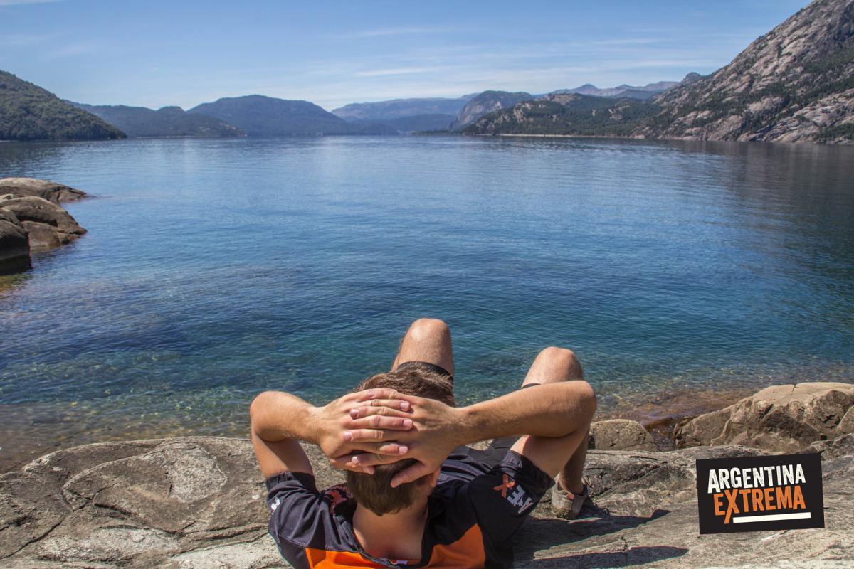 Descanso en las Playas de Yuco - Paraiso natural del Lago Lacar - Cicloturismo