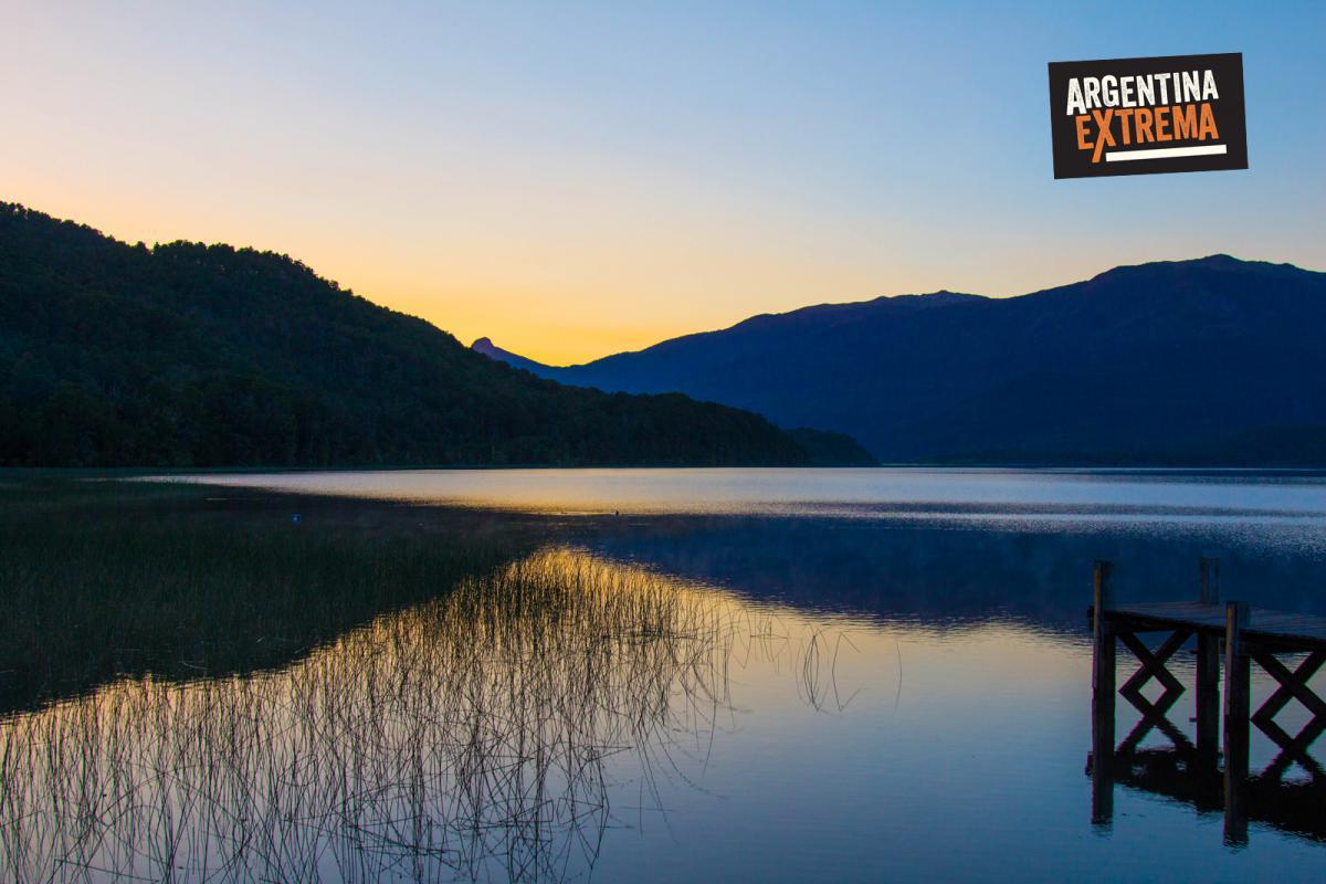 Atardecer en lago Nonthue - Cicloturismo