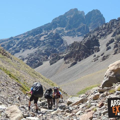Trekking and mountain ascent to over 5000 meters most southern summit of America