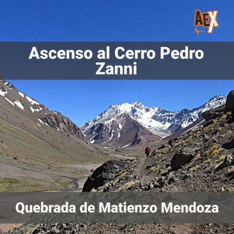 Cerro Pedro Zanni (4200 msnm) - ascenso y trekking - Quebrada de Matienzo - Mendoza