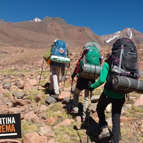 Trekking y Ascenso en el Cordón de Ansilta - Montañismo -  San Juan - 31-12-1969 26 de Abril!