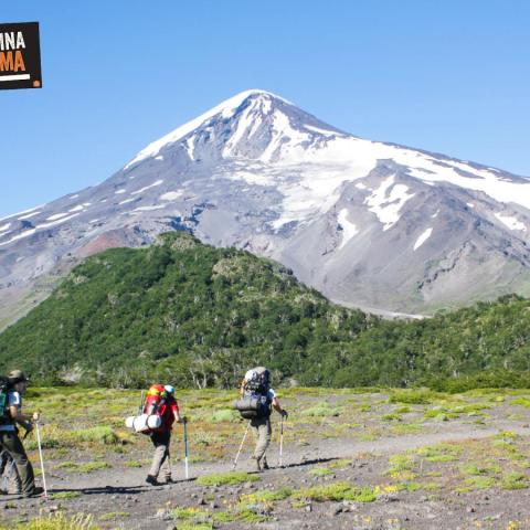 Lanin Volcano (3776 masl) - Trekking and ascent to the summit - Patagonia