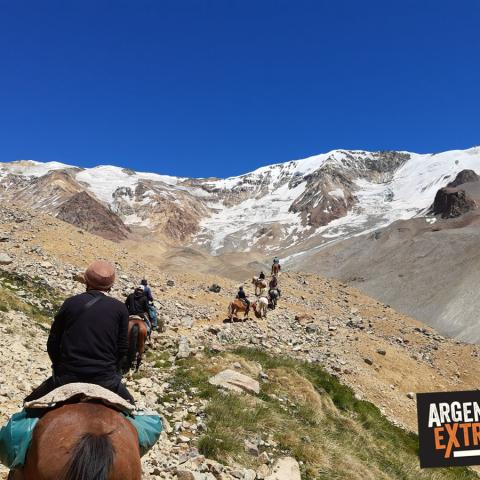 Horseback riding to the Andes Miracle Survival Site -