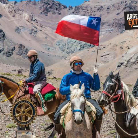 SanMartinian Horseback Riding Across the Andes Argentina-Chile - Paso Los Patos - 1969-Dec-31 13 de March!