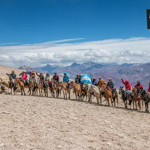 Horseback Riding Across the Andes Argentina-Chile-Paso de los Patos - San Martin crossing - 1969-Dec-31 23 de October!