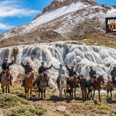 Crossing the Andes Mountains to the border with Chile