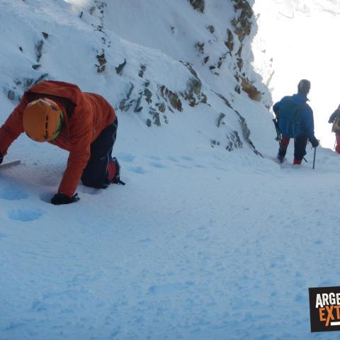 Montañismo Invernal - Principiantes - Curso - escalada en hielo - trekking invernal - Vallecitos - Cordón del Plata, Mendoza