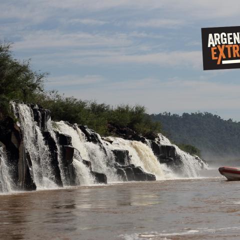 En la frontera de Misiones con Brasil, el río Uruguay forma saltos de increíble belleza.
