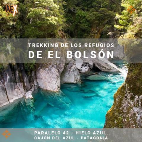 Trekking de los refugios de El Bolsón - Paralelo 42 - Hielo Azul, Cajón del Azul - Patagonia