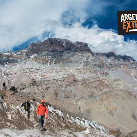 3 days up to the base of the mythical South face of Mount  Aconcagua