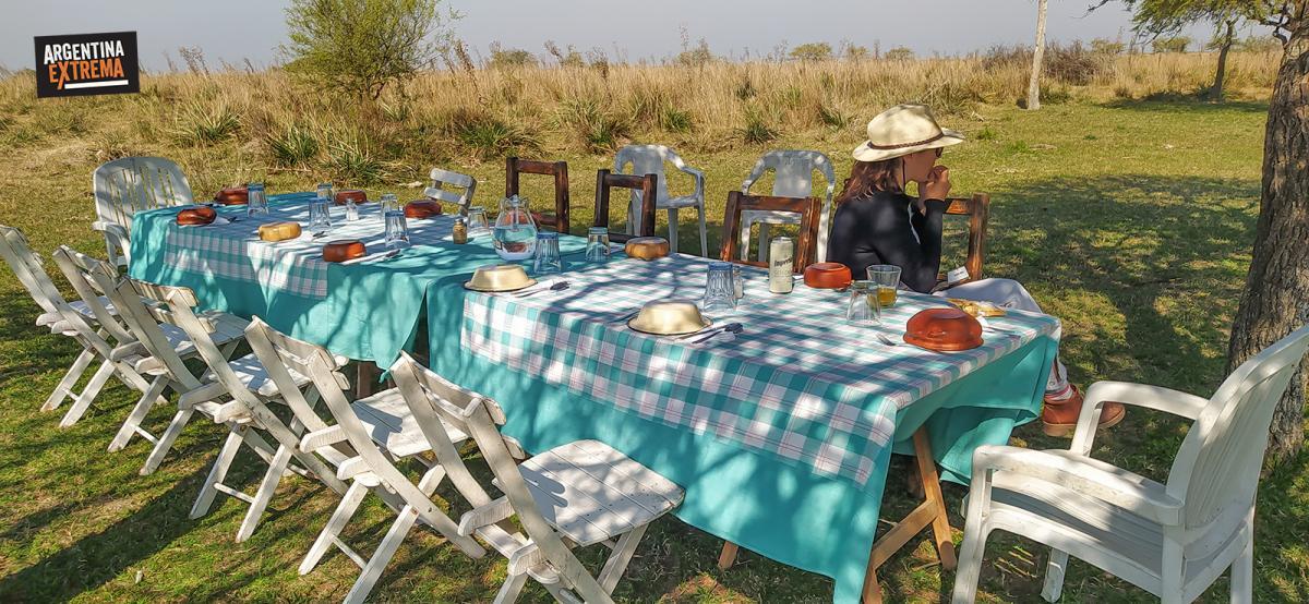 Almuerzo en los Esteros Pucú