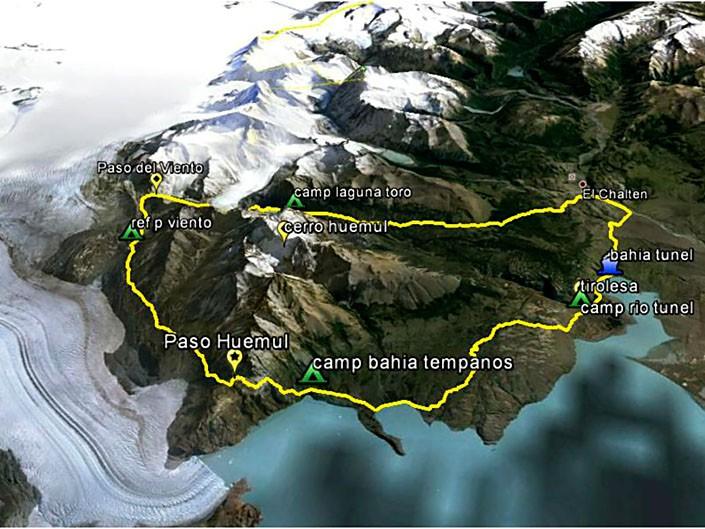 mapa vuelta al huemul