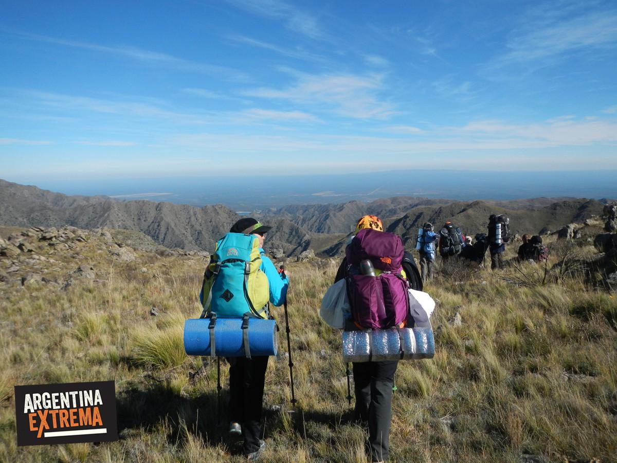 nogoli la carolina trekking ruta camino del oro sierras san luis