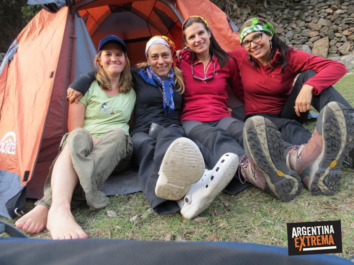 campamento y carpa para 4