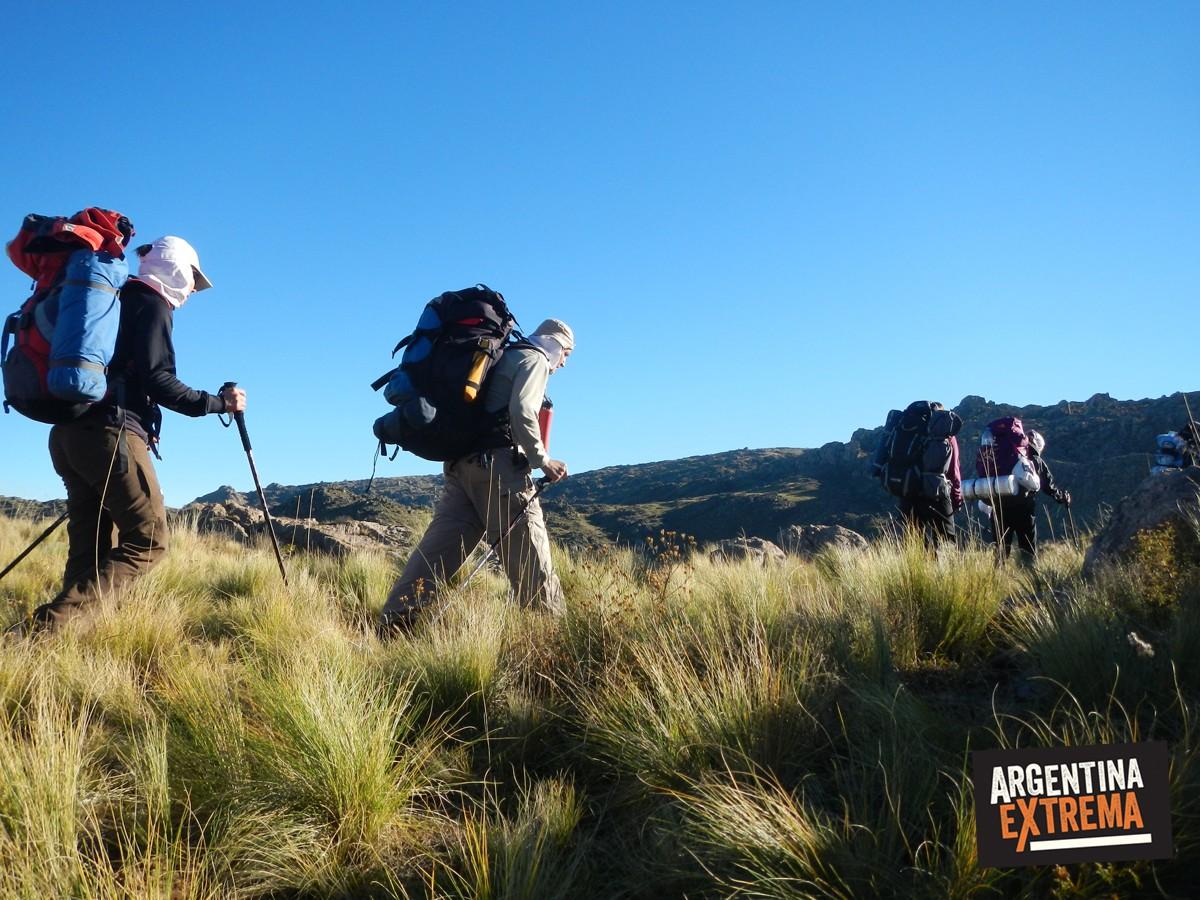 trekking en las sierras