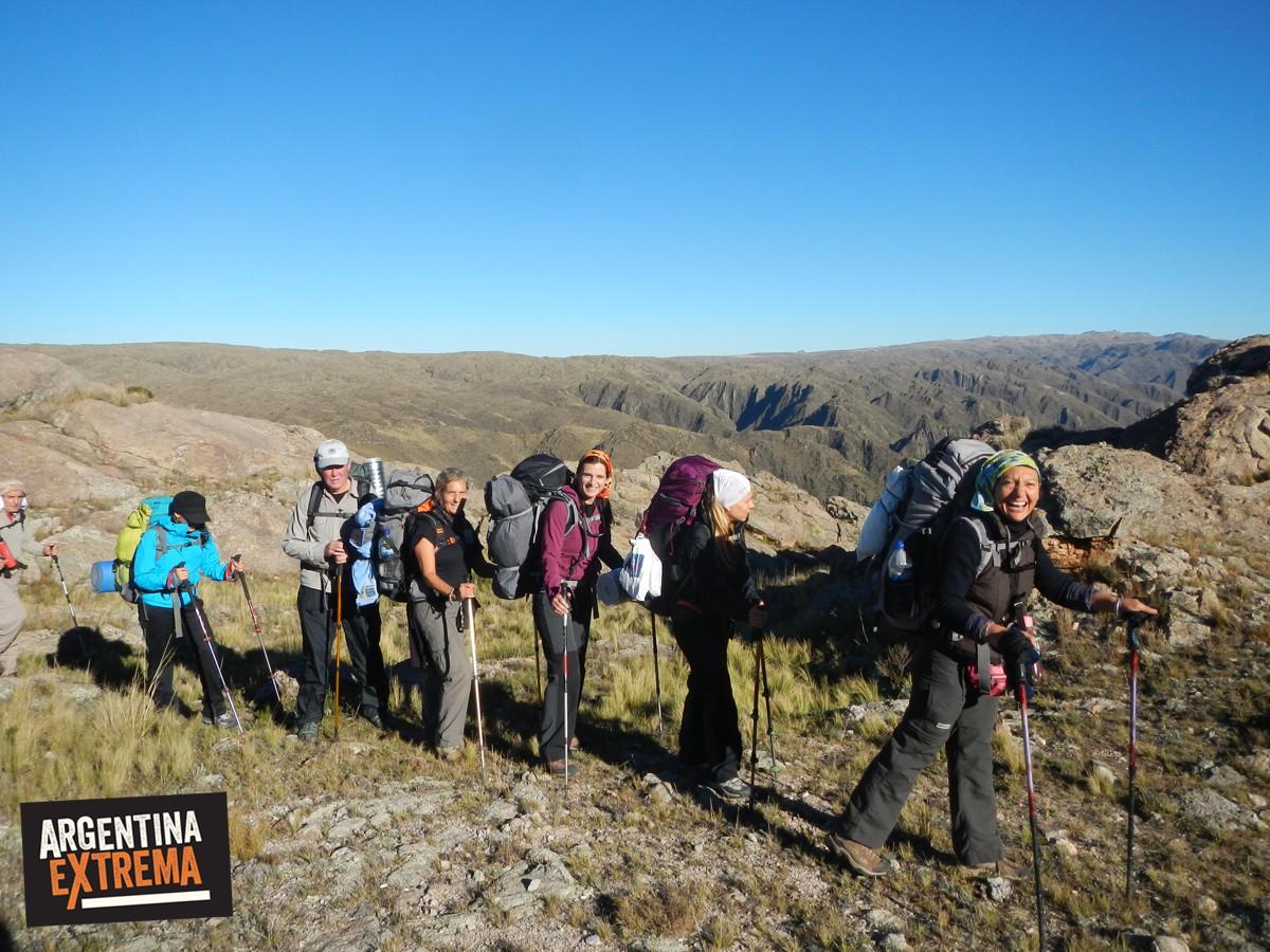 trekking sierras centrales de san luis